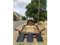 Tilt Bed Car Recovery Trailer - Large Transporter, Tractor, Van, Plant, Winch, Strong