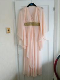 Peachy flowy dress