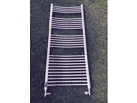 Chrome curved towel rail