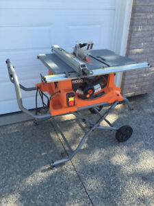 "RIGID 10"" portable table saw"