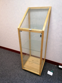 Pine and glass cabinet