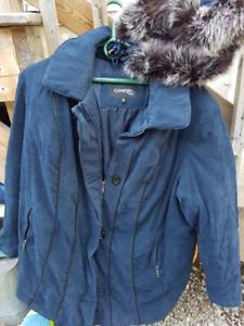 Ladies Winter Car Coat with detachable hood - Like new