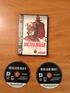 Metal Gear Solid PS1 + PS2 Video Games