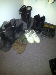 SEVERAL PAIR SAFETY FOOTWEAR AND FEW CASUAL - sz 10