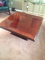 Solid cherry wood coffee table....