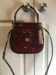 Coach authentic patent handbag-BAG # 15
