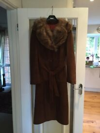Suede Coat Size 10