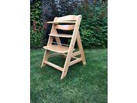 Hauck Beta+ Wooden Highchair - Natural