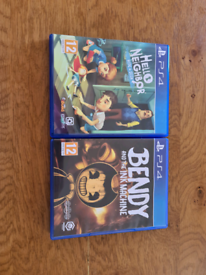 ps4 games hello neighbour and bendy