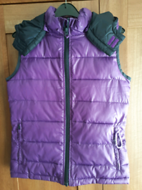 Girls purple Gilet 11-12 years