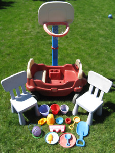 Wagon and outdoor toys