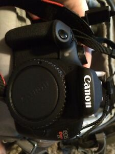 Canon rebel T5 + 18-55 + 75-300 + camera backpack