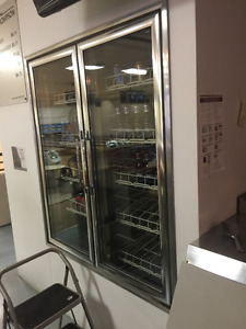 Walk-In Cooler, Electric Grill w/hood, Refrigerated Prep Table