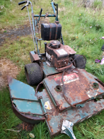 Ransomes bobcat lawnmower with 400cc engine. Spares or repair