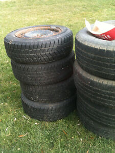 3 sets of tires for sale 15 and 16 inch.