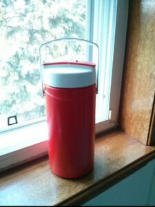 Vintage Red Thermos Flask