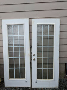 2 French style exterior home doors