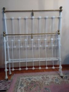 Antique Brass & Iron Bed Frame