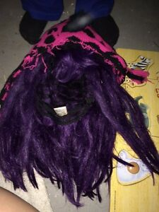 Halloween wigs, stockings, eyelashes, wings etc