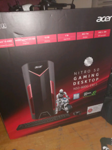 Acer nitro 50 gaming desktop bramd new in box