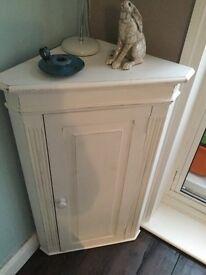 Corner cupboard. Shabby chic.
