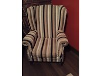 Wing backed chair