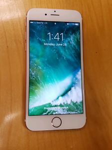 REDUCED** I phone 6s Rose Gold 32GB