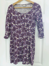 99f979319 Boden purple and white dress size 8