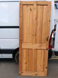 Antique solid wood pine living room doors