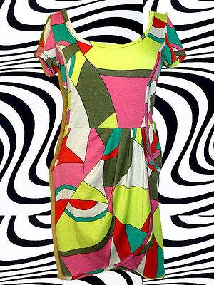 70✪ Psychedelic Twiggy Hippie Twggy Mini Kleid Kostüm 60er 70er Jahre Gr. - Twiggy Kostüm