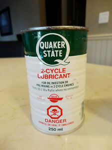 Vintage 1970's Quaker State Tin Coin Bank
