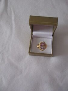 Pink Amethyst Ring  - size 10