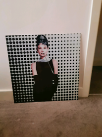 Glass Audrey Hepburn Photo