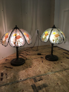 antique table lamps - set of 2
