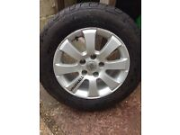 SET OF FOUR VAUXHALL ALLOY WHEEL & TYRE'S