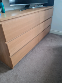Ikea malm chest of drawers and bedside table