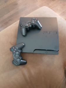 PlayStation3 with 2 controllers