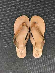 Genuine leather wedge sandals from Greece