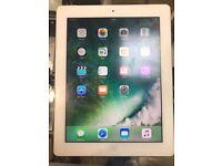 iPad 4 - A1460 - 64GB - white and Silver - Takes Sim