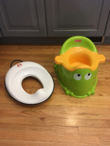 Potty and toilet seat