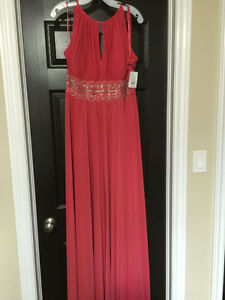 NWT Coral formal gown