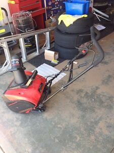 Slightly used electric snow blower