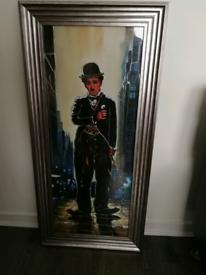 Charlie Chaplin liquid art