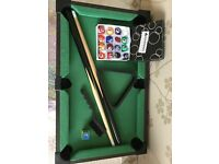 Wooden Table Top Mini Deluxe Kids Children Pool Playset Cues Balls Snooker Game Complete