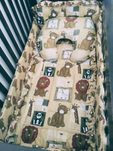 Brand New Lion theme crib bedding set for girl/boy!