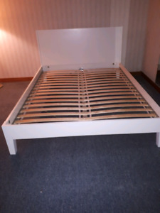 IKEA Queen Size bed frame and slat spring