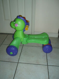 Stride-to-Ride Dino McQueen Plush Car Lawn Mower Toy