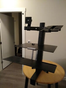 Ergotron Workfit Standing Desk for laptop and monitor
