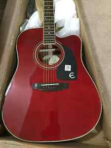 Epiphone PRO-1 Acoustic/Electric Guitar - Red