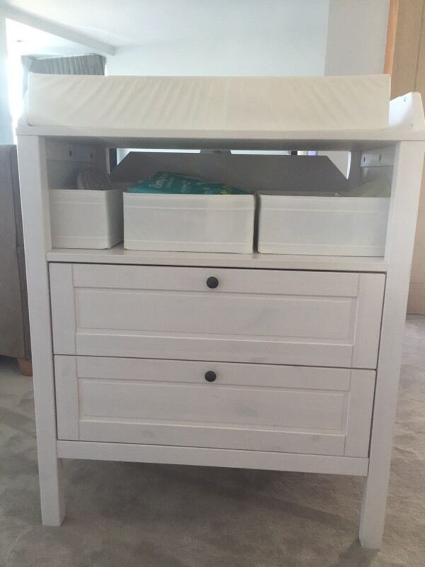 ikea sundvik changing table chest of drawers 50 in poole dorset gumtree. Black Bedroom Furniture Sets. Home Design Ideas
